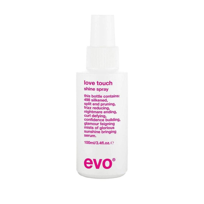 evo Styling Love Touch Shine Spray 100ml Packaging