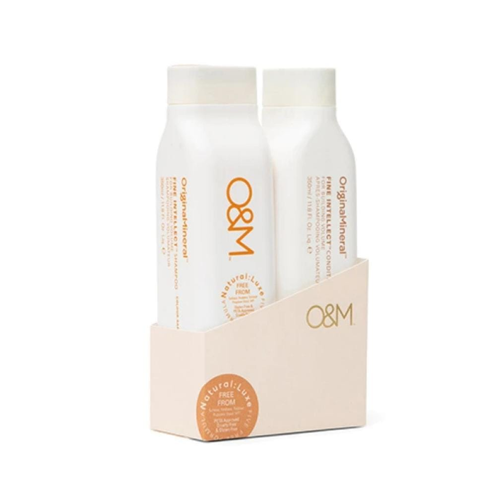 O&M Haircare Packs O&M Duo pack Fine Intellect Shampoo and Conditioner 350ml