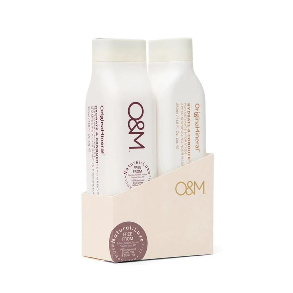 O&M Haircare Packs O&M Duo Pack: Hydrate & Conquer Shampoo and Conditioner 350ml