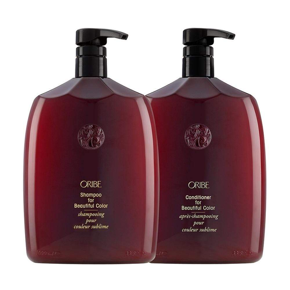 Oribe Haircare Packs Oribe Beautiful Color Shampoo and Conditioner Litre Duo