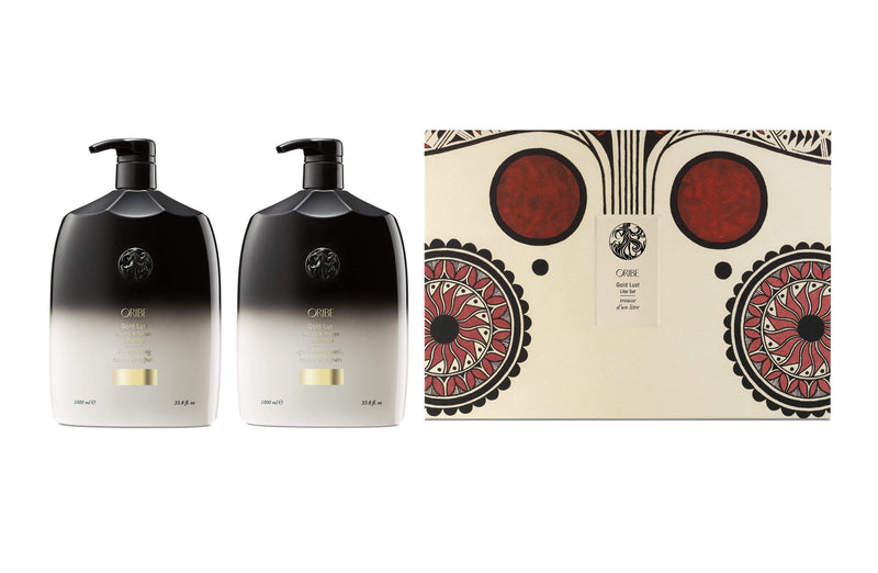 Oribe Haircare Packs Oribe Gold Lust Repair & Restore Shampoo and Conditioner Litre Duo