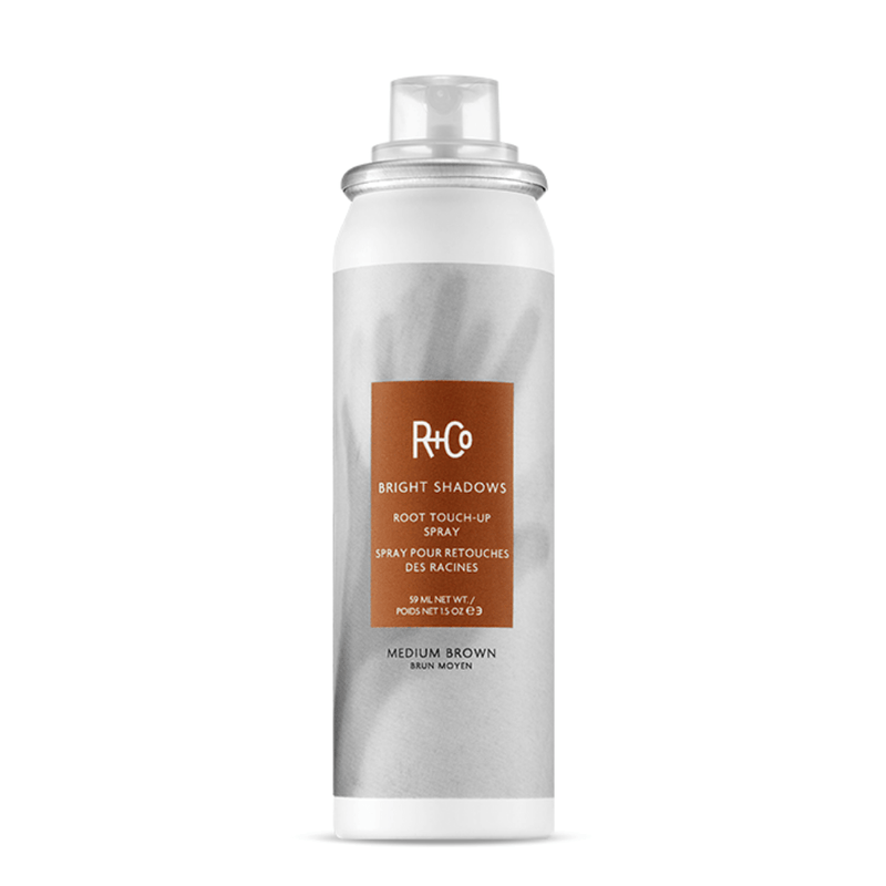 R+Co Styling Bright Shadows- Root Touch Up Spray- Medium Brown 59ml