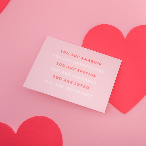 Free V-day Card with every purchase!