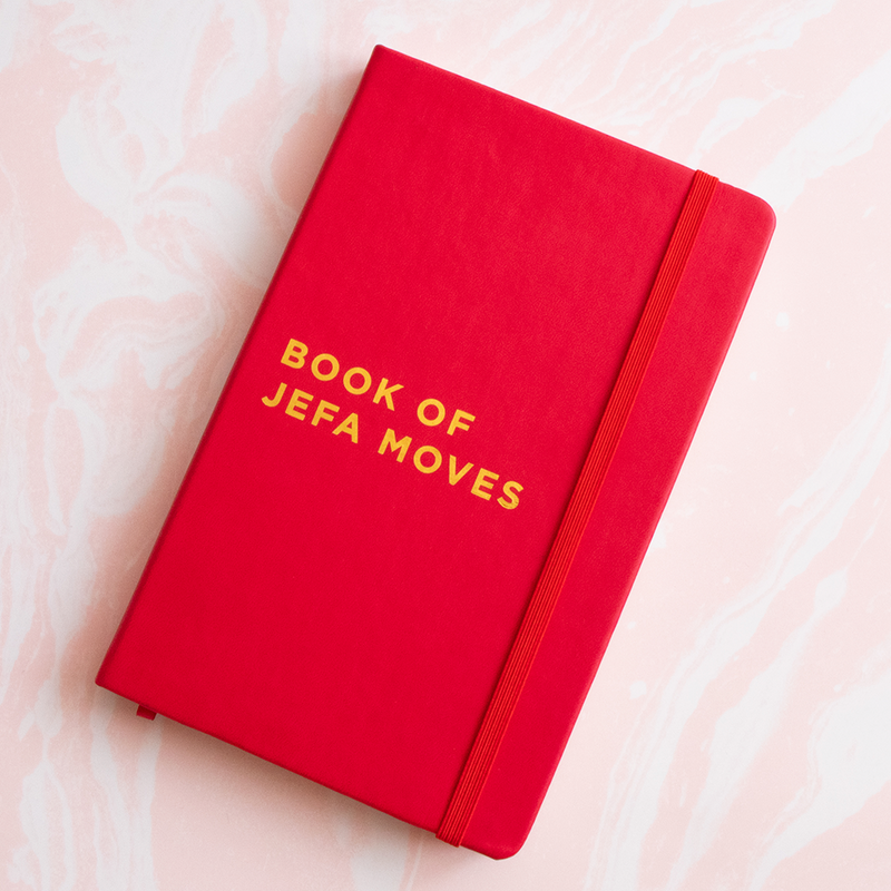Book of Jefa Moves Leather Notebook