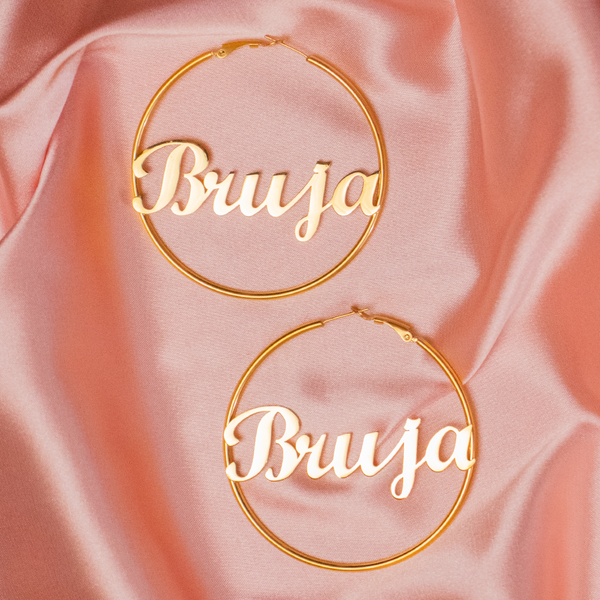 Bruja Gold Hoop Earrings