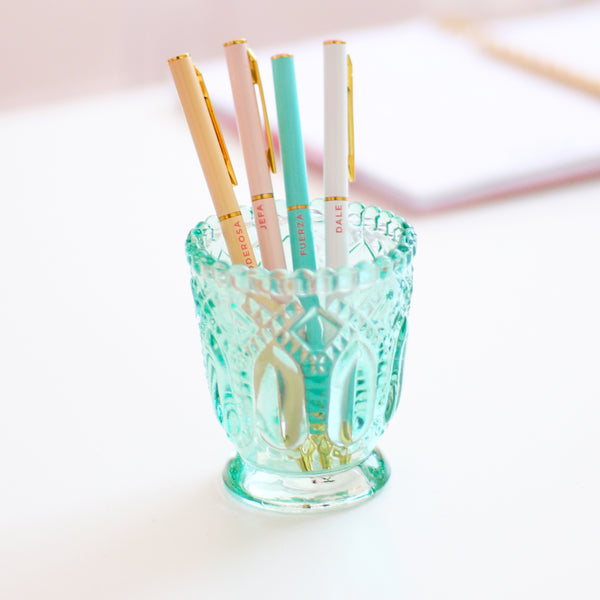 Vintage Glass Pen Holder