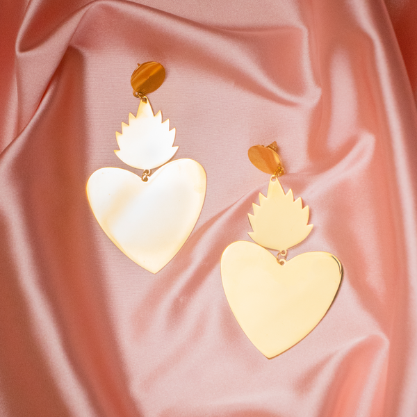 Sacred Corazón Earrings