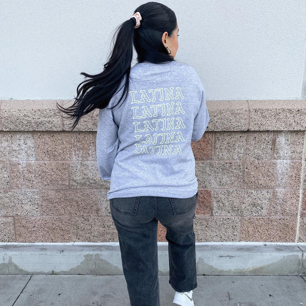 Grey Latina Crewneck Sweatshirt