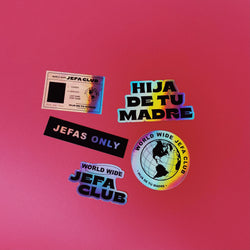 Jefa Club Holographic Sticker Pack