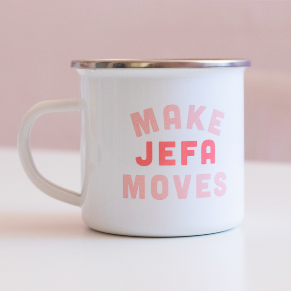 Make Jefa Moves Enamel Mug