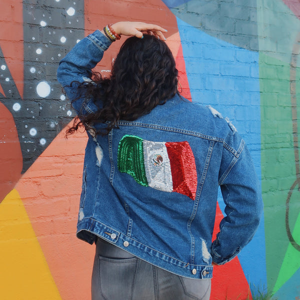 Mexican Bandera Trucker Jacket