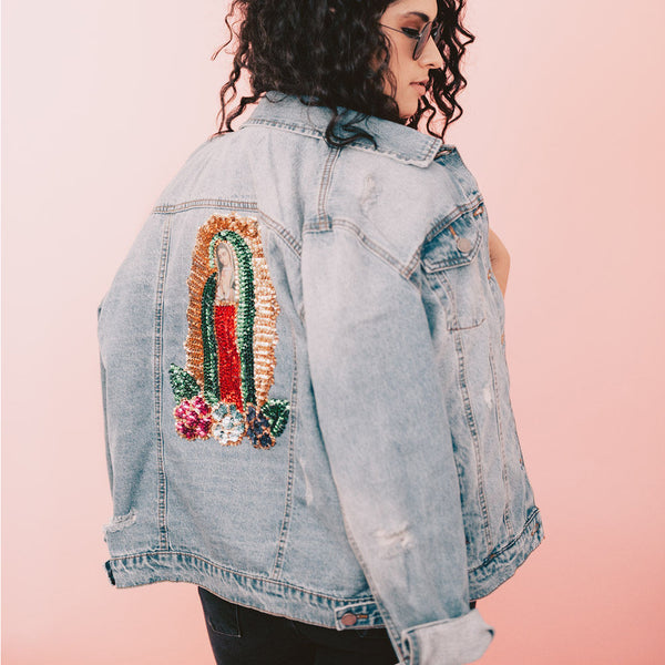 Virgencita on Girlfriend Jacket