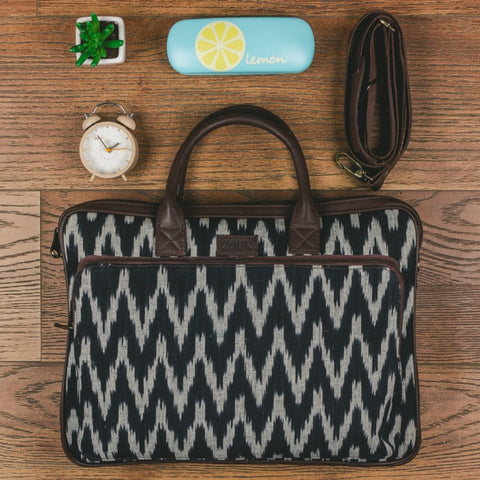 Ikat laptop bag — the first Zouk product