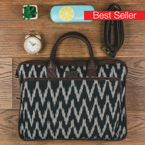 Ikat Print Laptop Bag
