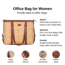 Load image into Gallery viewer, Zouk Daisybush Women's Office Bag - Details of the product, product specification
