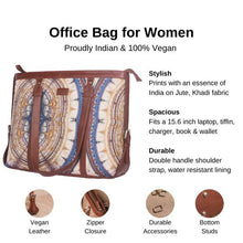 Load image into Gallery viewer, Zouk Clock Work Women's Office Bag - Details of the product, product specification