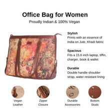 Load image into Gallery viewer, Zouk FloLov Women's Office Bag - Details of the product, product specification