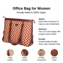 Load image into Gallery viewer, Zouk Geometric Crystal Women's Office Bag - Details of the product, product specification