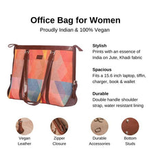 Load image into Gallery viewer, Zouk GeoOptics Women's Office Bag - Details of the product, product specification