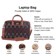 Load image into Gallery viewer, Ikat Black SeaOptics Laptop Bag