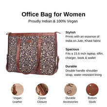 Load image into Gallery viewer, Zouk FloMotif Women's Office Bag - Details of the product, product specification