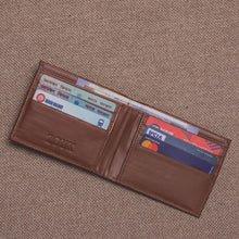 Load image into Gallery viewer, Unisex Pocket Wallet - Brown Metal