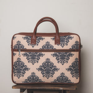 Mughal Motif Combo - Laptop Bag & Chain Wallet