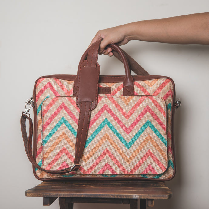 WavBeach Laptop Bag - Back
