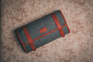 Grey Metal Travel Pouch