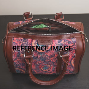 Ikat Brown Multi Wave Handbag