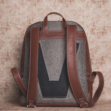 Grey Metal  Backpack