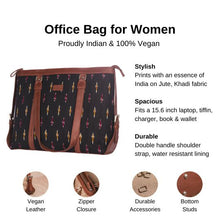 Load image into Gallery viewer, Ikat Yellow Red Needle Women's Office Bag