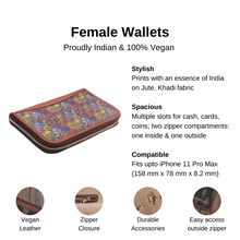 Load image into Gallery viewer, Multi Crystal Print Chain Wallet