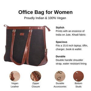 Jet Black Women's Office Bag