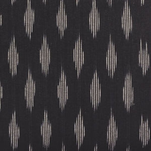 Unisex Pocket Wallet - Ikat Striped Black
