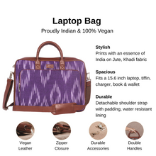 Load image into Gallery viewer, Blue Crystal Laptop Bag