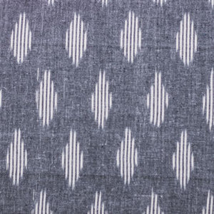 Classic Zipper Wallet - Ikat Striped Grey