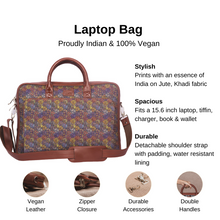 Load image into Gallery viewer, Multi Crystal Print Laptop Bag