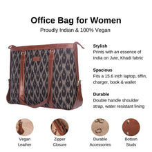 Load image into Gallery viewer, Zouk BlckMesh Women's Office Bag - Details of the product, product specification