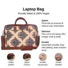 Load image into Gallery viewer, Mughal Motif Laptop Bag