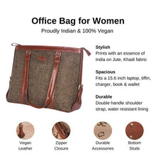 Load image into Gallery viewer, Zouk Bristel Women's Office Bag - Details of the product, product specification