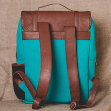 Load image into Gallery viewer, Zouk Sea Blue Canvas Backpack