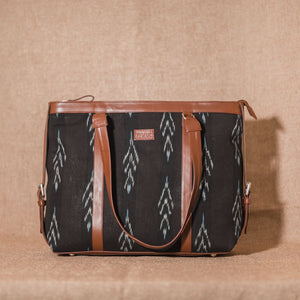 Ikat Peacock Feather Women's Office Bag