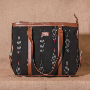 Ikat Red Feather Women's Office Bag