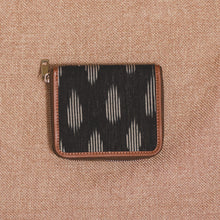 Load image into Gallery viewer, Ikat Striped Black Women's Mini Wallet