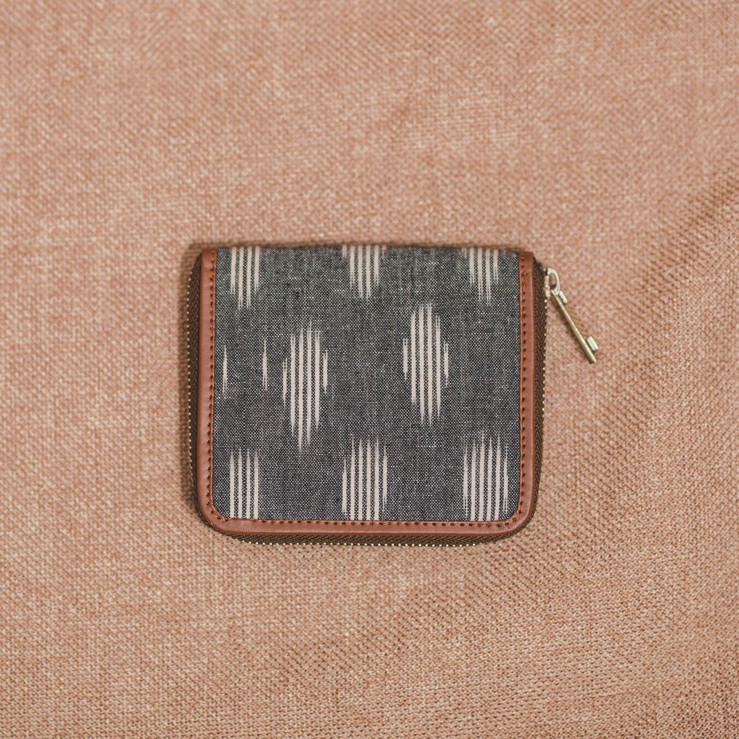 Ikat Striped Grey Women's Mini Wallet