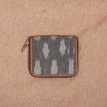 Load image into Gallery viewer, Ikat Striped Grey Women's Mini Wallet