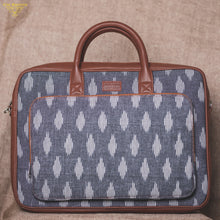 Ikat Striped Grey  Laptop Bag