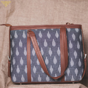 Ikat Striped Grey Women's Office Bag