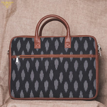 Load image into Gallery viewer, laptop bag for women - ikat striped - back